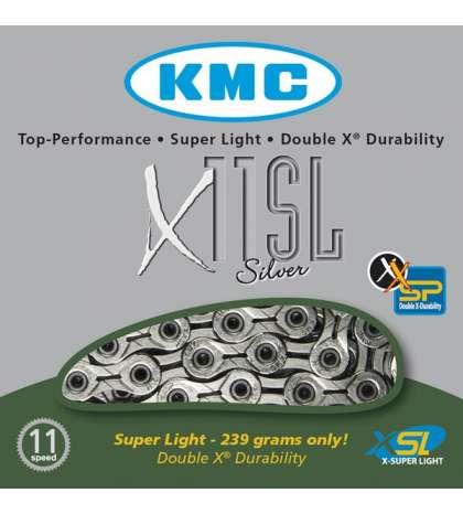 CADENA X11 SL 114 PASOS 11V PLATA - KMC - R: 31281