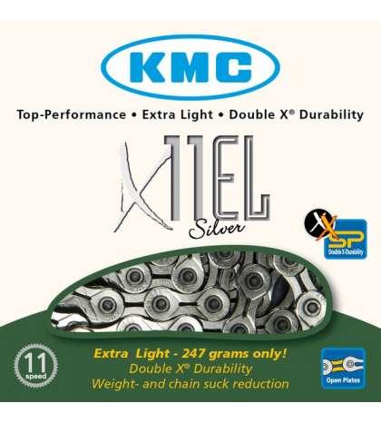 CADENA X11 EL 114 PASOS 11V PLATA - KMC - R: 31283
