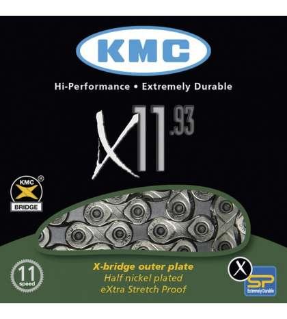 CADENA X11-93 114 PASOS INDEX 11V - KMC - R: 31143