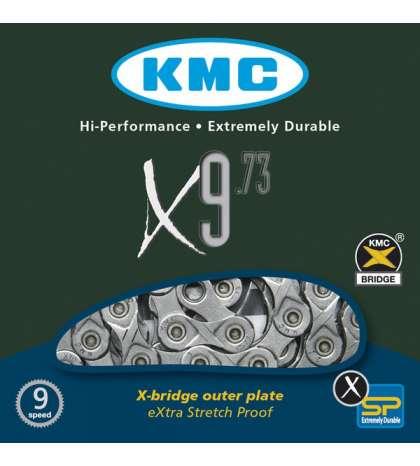 CADENA X9-73 116 PASOS INDEX 9V GRIS - KMC - R: 31258