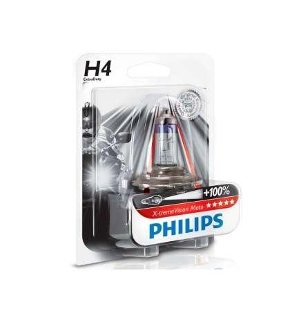 LAMPARA H4 X-TREME VISION MOTO -PHILIPS R: 2012342XV