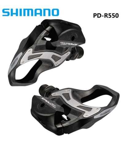 JUEGO PEDALES R550 NEGRO CARRETERA SHIMANO R: PDR550L