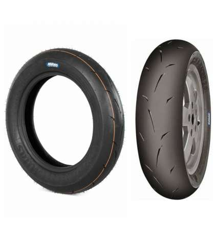 JUEGO DE CUBIERTAS 100 - 90 X 10 49P / 120 - 80 X 12 55P RACING MEDIUM MC 35 S-RACER 2.0 R: MKMN2