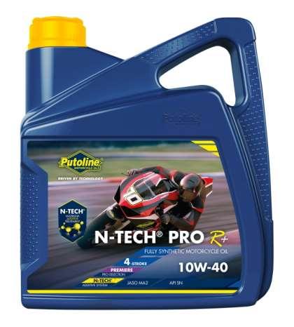 ACEITE PUTOLINE N-TECH PRO R+ 10W-40 4 T. ( ENVASE 4 LITROS ) R: 74309