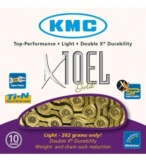 CADENA X10 EL 114 PASOS 10V ORO - KMC - R: 31292