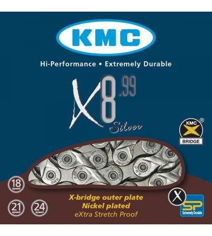 CADENA X8-99 116 PASOS INDEX 8V - KMC - R: 31248