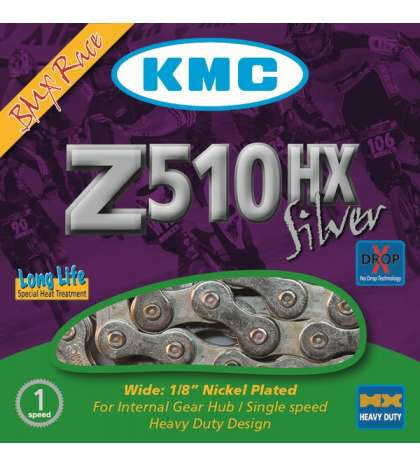 CADENA Z510HX BMX 112 PASOS PLATA - KMC - R: 31262