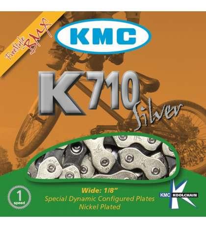 CADENA K710 BMX 1V CROMADA - KMC - R: 31239