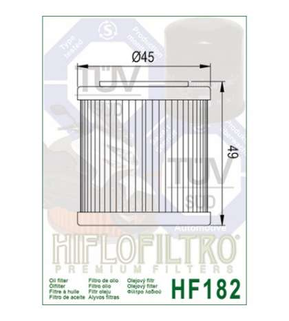 FILTRO ACEITE  - HIFLOFILTRO -  R:  HF182
