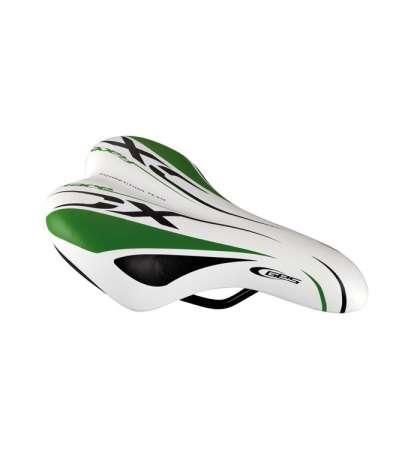 SILLÍN BICI RACE XC SIN NUEZ JUNIOR COLOR BLANCO/VERDE - GES - R: A311S60