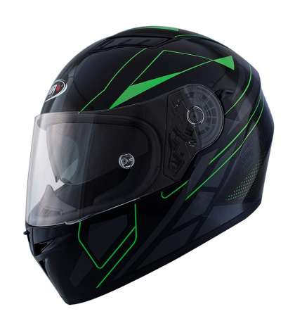 CASCO INTEGRAL MOD. ELITE TM NEGRO MATE/VERDE - SHIRO - R: 1145 94