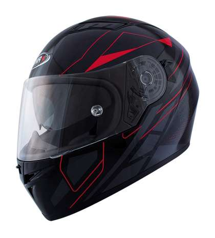 CASCO INTEGRAL MOD. ELITE TM NEGRO MATE/ROJO - SHIRO - 1145 66