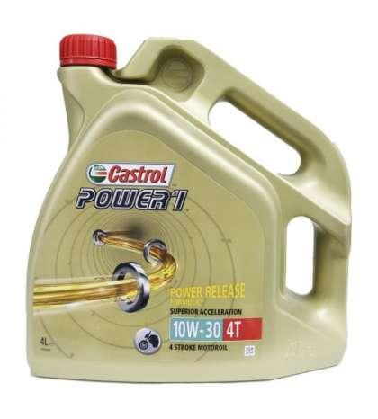 ACEITE CASTROL 10W 30 ENVASE 4L POWER 1 R: 15042F