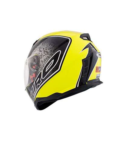 CASCO INTEGRAL BYTE AMARILLO FLUOR / NEGRO TL – SHIRO – R: 1065 04