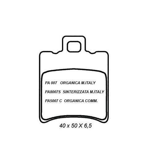 pastillas de freno Organica trasero compatible con APRILIA Sr Ditech 50 2001-2006