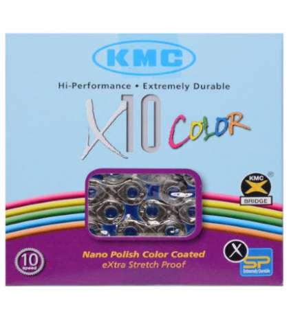 CADENA KMC X-10 VIVID AZUL 114 PASOS INDEX 10 V. R: 31153