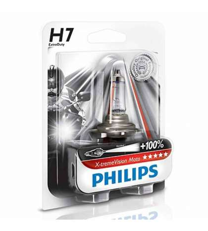 LAMPARA PHILIPS H7 X-TREME VISION/MOTO - PHILIPS - R: 2012972XV